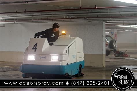parking garage sweeping chicago ace  spray