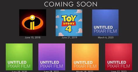 pixars   films release