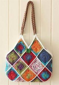 Squares Bag  U00b7 How To Stitch A Knit Or Crochet Bag