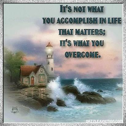 Quotes Inspirational Lighthouse Christian Gifs Overcoming Its