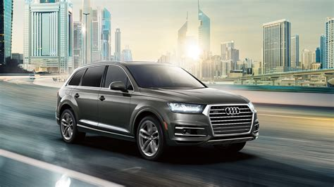 Audi Q7 4k Wallpapers by 2018 Audi Q7 On Road In City 4k Hd Wallpaper Cars