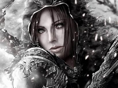 Demon Hunter Diablo Hood Wallpapers Fantasy Woman