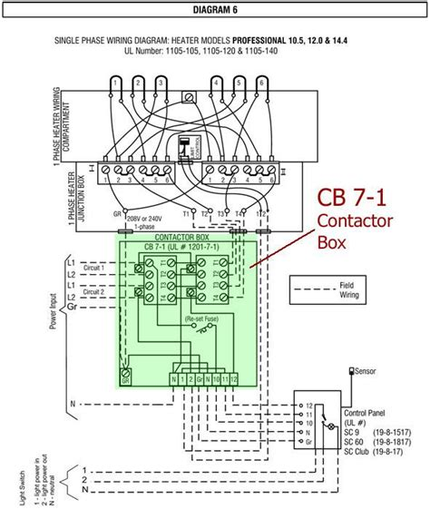 Wiring Diagram For Infrared Heater by Sauna Contactor Box For La Pro Octa Heaters 1