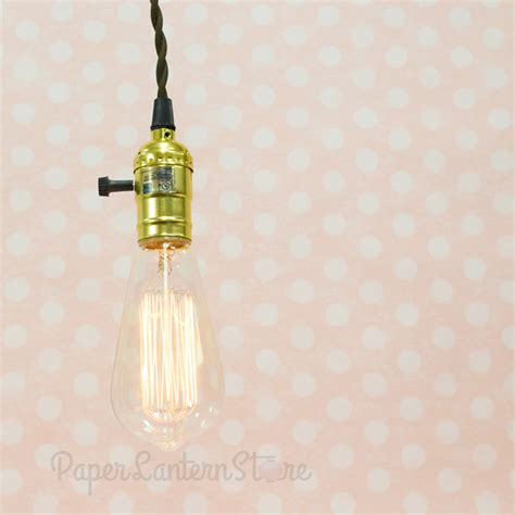 single gold socket pendant light l cord kit w dimmer