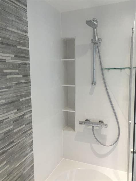 custom corian alcove shelving shower shelves shower