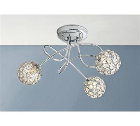 buy collection amelia 3 light beaded globes ceiling light at argos co uk your shop for