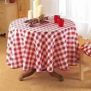 Nappe De Table Ronde : nappe ronde d180 cm vichy rouge nappe de table eminza ~ Teatrodelosmanantiales.com Idées de Décoration