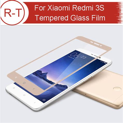 xiaomi 3x gold for xiaomi redmi 3s tempered glass fully covering