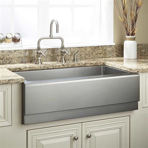 stainless steel farm sink 33 quot optimum stainless steel farmhouse sink beveled