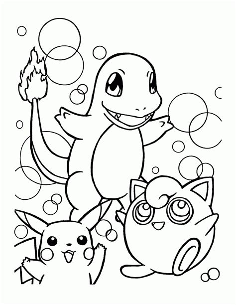 Jiggly Puff Kleurplaat by Paradijs Kleurplaat Charmander Pikachu En