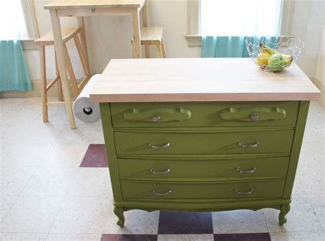 dresser kitchen island upcycling give new to furniture pfister
