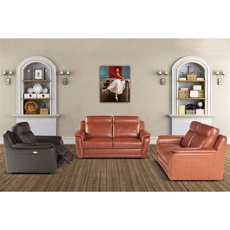 tara leather sofa set sectional by nicoletti city