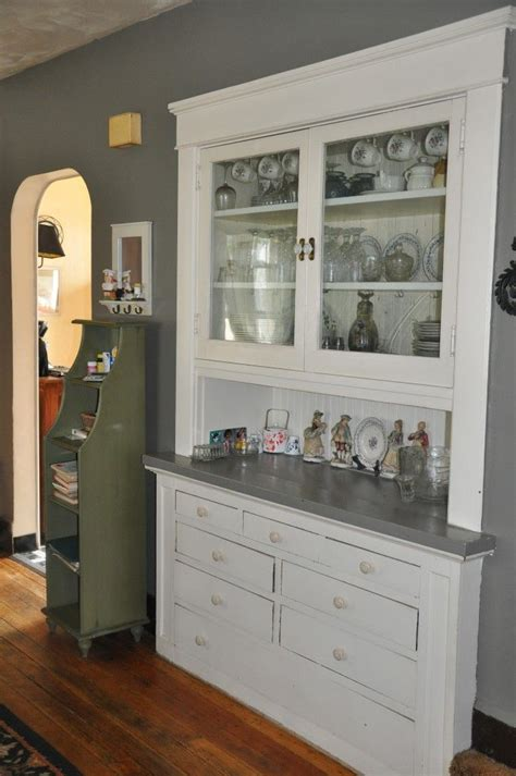 built  china cabinet  bungalow home