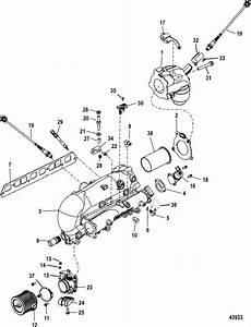 Mercruiser 3 0l Mpi Ec Intake    Exhaust Manifold