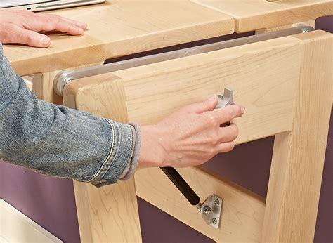 adjustable desk woodworking project woodsmith plans