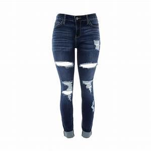 - Cotton blend in dark blue - Looped waist - Button zip up ...