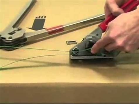 manual hand  strapping machine skbco youtube