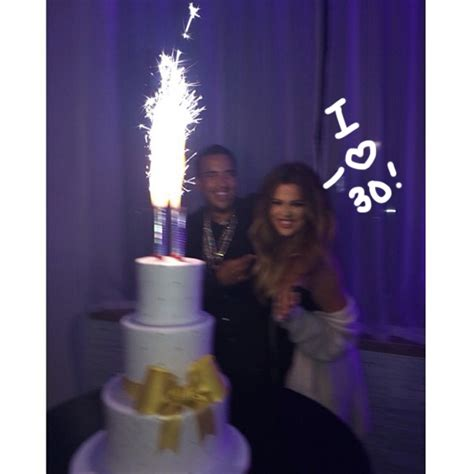 Khloe Kardashian Rings In 30 With Sparks With French ...