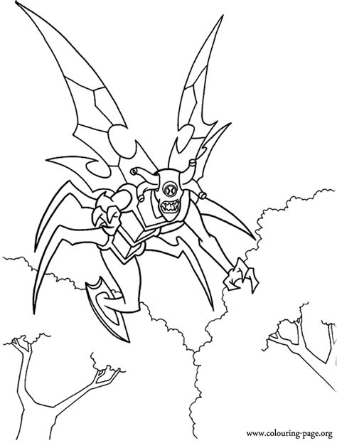 ben  stinkfly alien coloring page