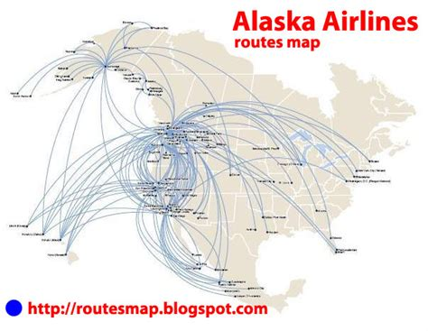 international flights: Alaska Airlines route map