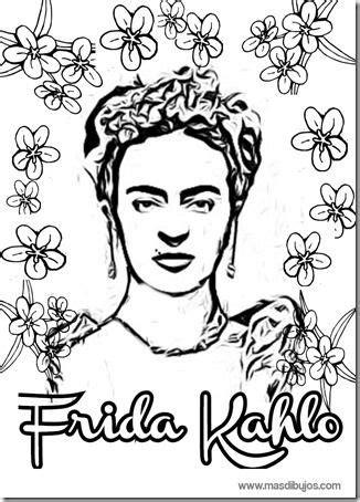 dibujos de Frida Kahlo colorear Frida kahlo Frida kahlo