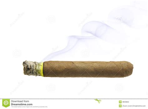 cigar with smoke isolated stock photography image 3845852