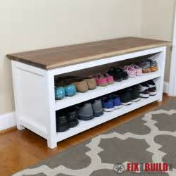 Foyer Bench With Shoe Storage by Ana White Entryway Shoe Bench Diy Projects