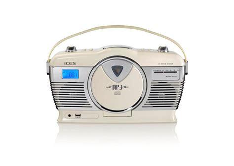 radio mit cd lenco ices tragbares retro radio mit cd mp3 player
