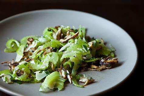 celery salad recipes italian celery and mushroom salad recipe on food52