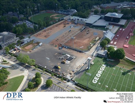Uga Site by Indoor Athletic Facility Monthly Aerial Photography