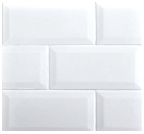 white subway tile 3x6 beveled 3x6 subway whisper white glossy ceramic tile