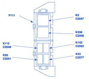 ford ranger xlt  auxiliary relay fuse boxblock circuit breaker diagram carfusebox