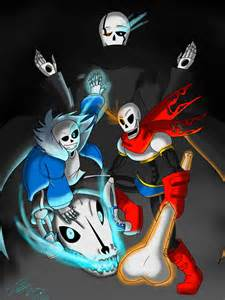 Gaster and Sans Papyrus