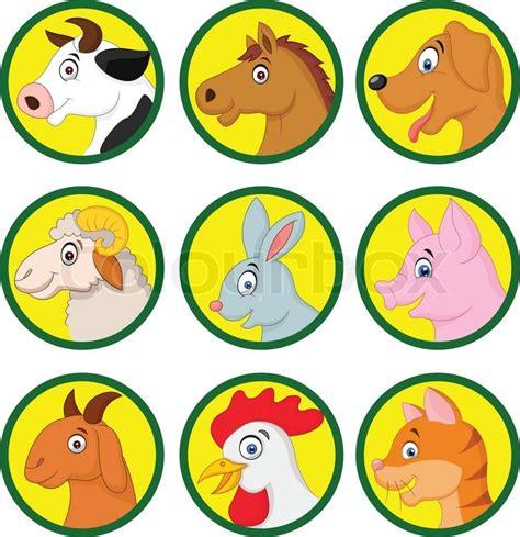 vector illustration  farm animal stock vector