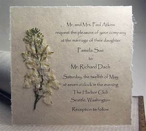 lotka pressed flower invitations With wedding invitations with dried flowers