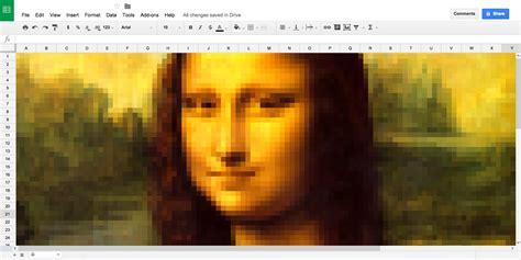 create pixel art   image  google sheets