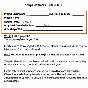 scope of work 16 free pdf dowload in pdf doc excel With it scope of work template