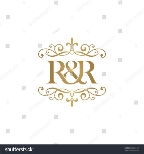 Rr Initial Logo Ampersand Monogram Logo Stock Vector