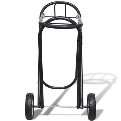 folding saddle rack metal foldable saddle rack with wheels vidaxl co uk