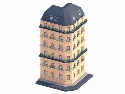 Hotel Building Parisian Dribbble Animation Welcome Construction