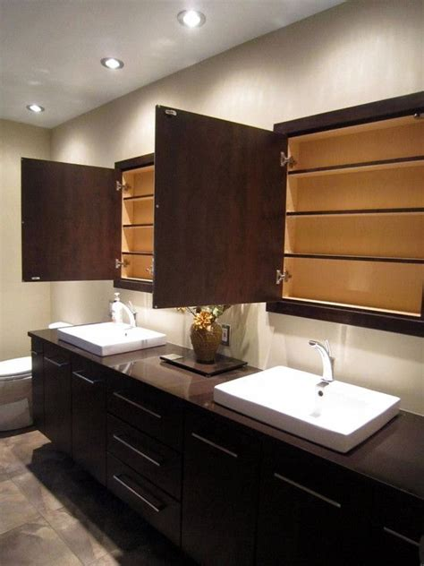 Contemporary Bathroom Cabinet by Custom And Built In Medicine Cabinet With Handsome High