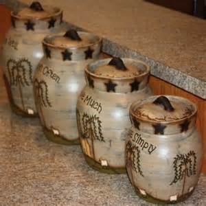 adorable country classics primitive ceramic canisters