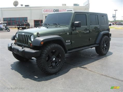 jeep metallic 2009 jeep green metallic jeep wrangler unlimited x 4x4