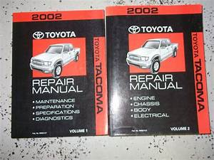 2001 Toyota Tacoma Service Repair Shop Set Oem 2 Volume Set And The Wiring Diagrams