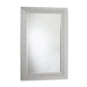 31 in x 43 in crinkle gloss silver rectangle framed mirror lowe s canada