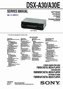 Sony Dsx-a30  Dsx-a30e Service Manual