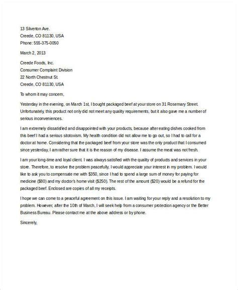 complaint letter sample   word  documents