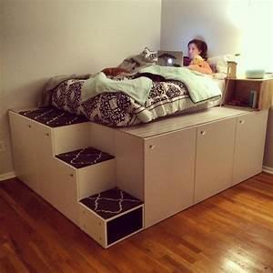 Bett Auf Paletten : so erstellst du dir dein individuelles bett ikea hacks ~ Michelbontemps.com Haus und Dekorationen