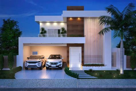 Luxurious and Modern Two Storey House Plan With Clean Facade