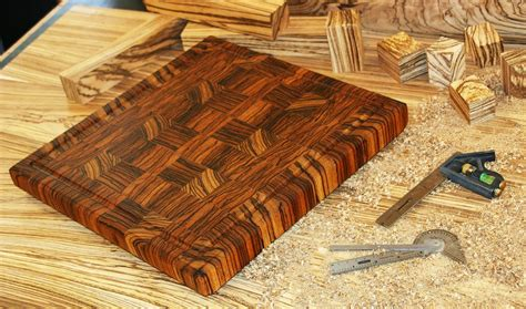 hand  zebrawood  grain cutting board  carolina